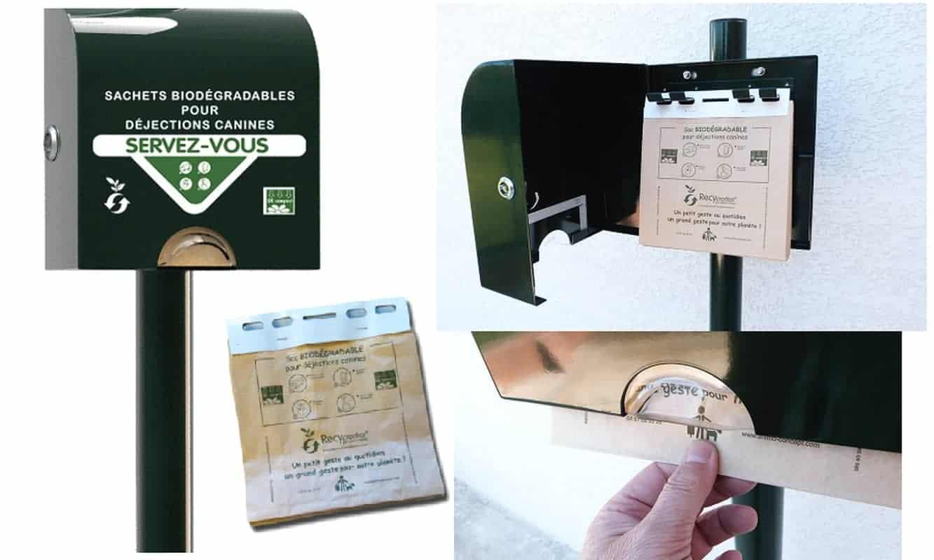 Distributeur sachet papier en liasse